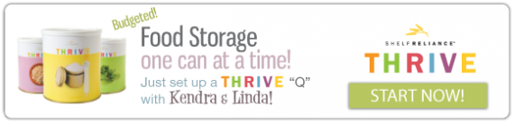 Get your food storage one #10 can at a time with a THRIVE Q through Food Storage Moms