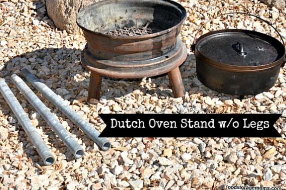 How To Make A Dutch Oven Stand | via www.foodstoragemoms.com