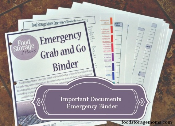 Important Documents Emergency Binder