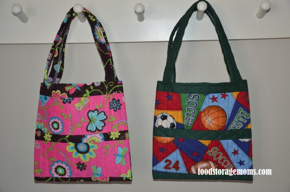 Childrens 72 Hour kits Crayon Bags