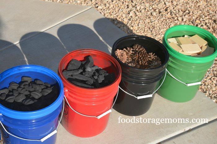 store in buckets