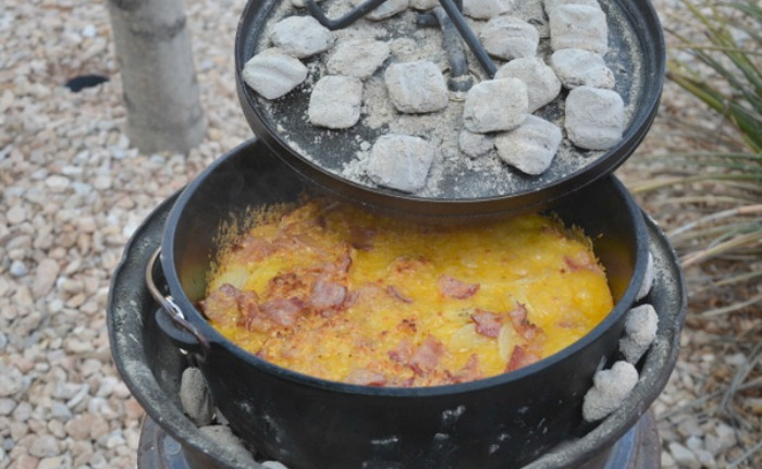 prepared with Dutch ovens