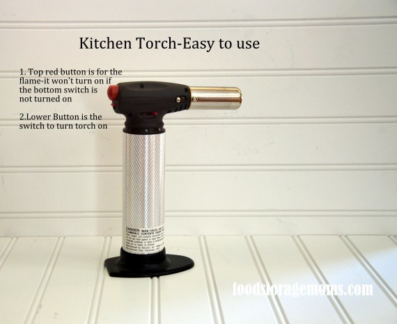 Kitchen Torch easy to use