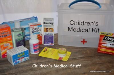 How To Make A Children's Medical Kit | via www.foodstoragemoms.com