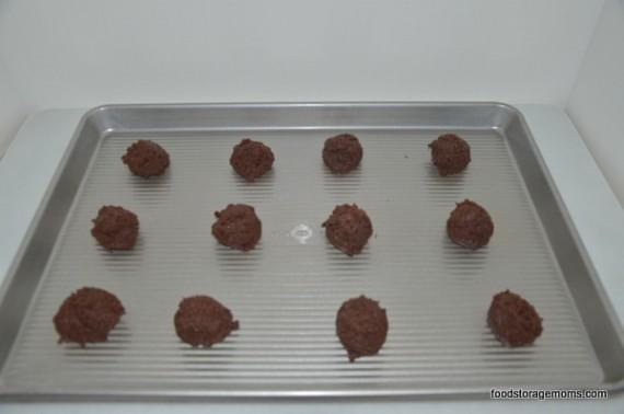Yummy chocolate marshmallow cookies