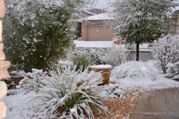 Snow in Southern Utah