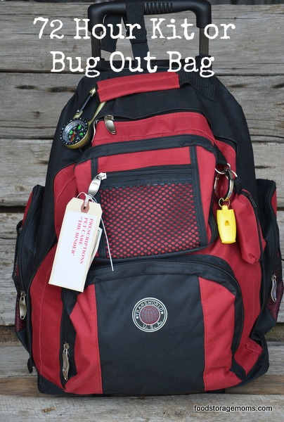 72 Hour Kit or Bug Out Bag