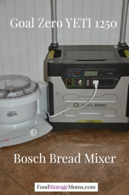 Bosch Bread Mixer Powered By Solar Power