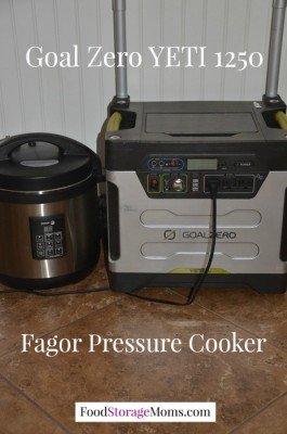 Fagor Pressure Cooker Powered By Solar Power