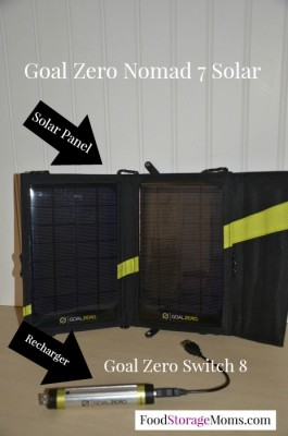 Goal Zero Switch 8 and Nomad 7 Solar Panel