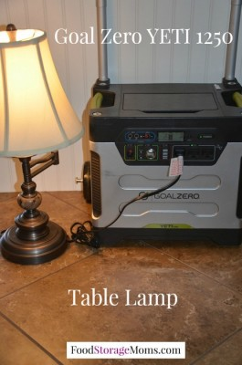 Table Lamp Being Powered With Solar Power
