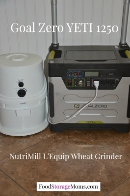 NutriMill Wheat Grinder Powered By Solar Power