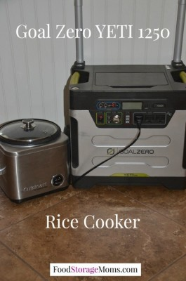 Rice Cooker Powered By Goal Zero YETI 1250