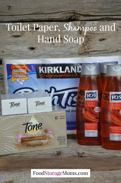 Shampoo-Toilet Paper-Hand Soap