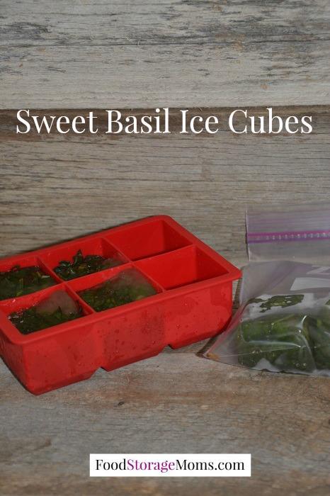 Sweet Basil Ice Cubes