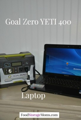 Goal Zero YETI 400 Charging The Laptop