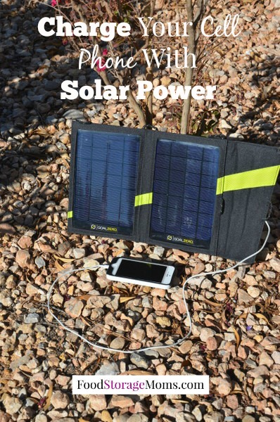 Charge Your Cell Phone With Solar Power