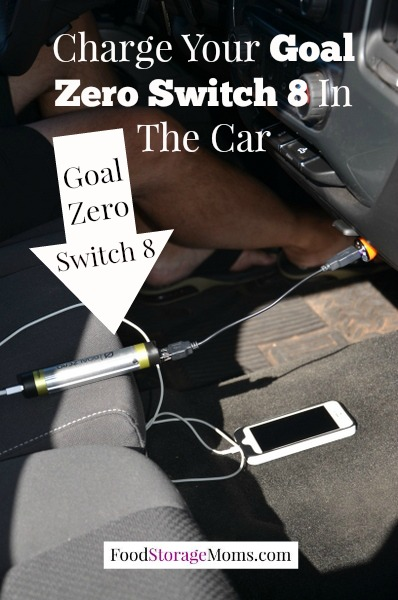 Charge Your Goal Zero Switch 8 In Your Car