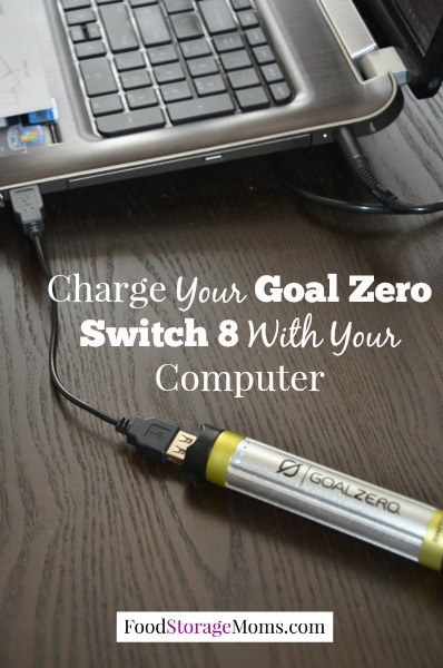 Charge Your Goal Zero Switch 8 With Computer