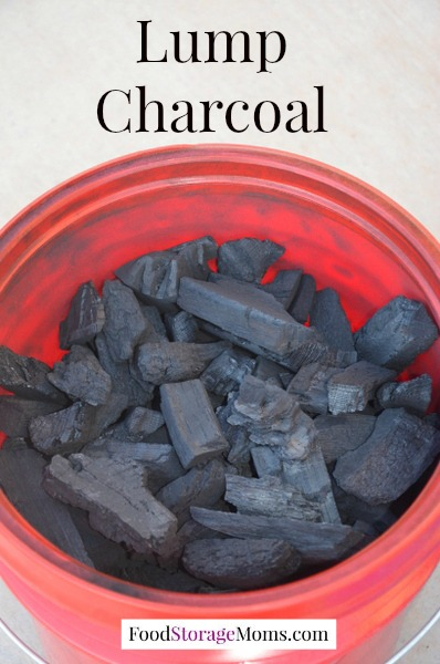 Charcoal-My Favorite Way To Store It by FoodStorageMoms.com