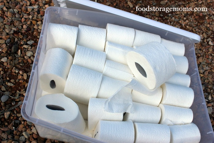 How To Store More Toilet Paper For Survival by FoodStorageMoms.com