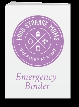Food Storage Moms Emergency Binder